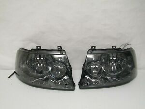 Ford Expedition 2003 2004 2005 2006 Led Smoked Set Of Driver Passenger Headlight