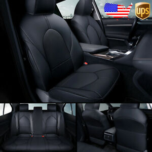 Car Custom Fit Leather Seat Covers Cushions Full Set For Toyota Camry 2018 2022
