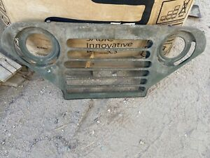 Vintage Rat Rod Jeep Grille light Rust Man Cave She shed Wall Hanger