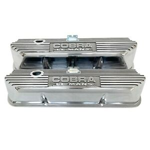 Ford Performance Cobra Le Mans Valve Covers Polished Aluminum M 6582 A427