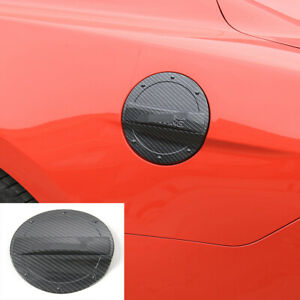 Fuel Tank Cap Gas Decor Cover Trim For Ford Mustang 15 Carbon Fiber Accessories