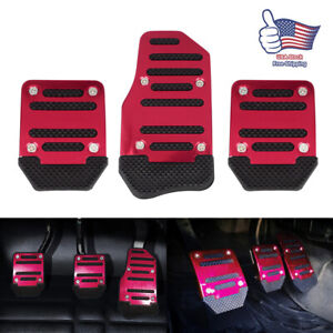 Non Slip Manual Transmission Gas Brake Foot Pedal Pad Cover Car Accessories Kit