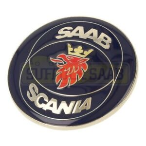 Saab Ng 900 9000 92 98my Cs Cse Aero Scania Rear Boot Badge 4171856 Enamel 60mm