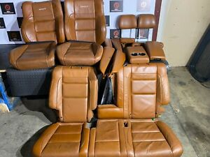 Jeep Grand Cherokee Srt 2014 2019 Oem Set Brown Leather Armrest Seat Covers 60k