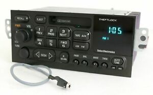 1996 02 Gm Delco Chevy S10 Car Radio Am Fm Cassette W Aux On Pigtail 16232091