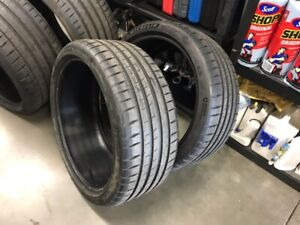 Two 2 New Michelin Pilot Sport 4s Tires 245 35 20