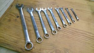 Vintage 9 Pc Craftsman Combination Wrench Set 15 16 1 4 Made In Usa