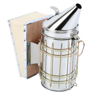 Bee Hive Smoker Beekeeping Equipment With Heat Shield Bellows Stainless Steel
