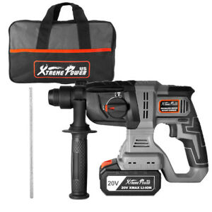 20v max Sds plus Cordless Rotary Hammer 2 2j Drill Drilling With Carrying Bag