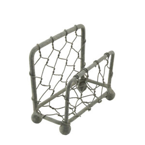 Gray Metal Chicken Wire Business Card Holder Desk Stand Rustic Home Office Decor