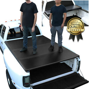Hard Tri Fold Rear 350lbs Max Tonneau Cover For 2019 2021 Ford Ranger 5ft Bed