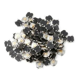 100 X Waterproof Microswitch Tactile Tact Push Button Switch Momentary Smd 4 Pin