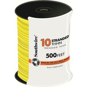 Southwire Thhn Wire 500 Ft 10 gauge Yellow Stranded Cu Heat Resistant