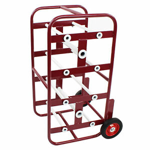 Bisupply Wire Spool Rack Cable Caddy Red Wire Spool Dispenser Bulk Cable Holder