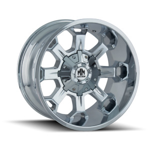 20 Inch 5x150 139 7 4 Wheels Rims Mayhem Combat 8105 20x9 18mm Chrome