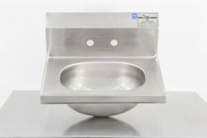 Used Eagle 15 X 19 Stainless Steel Wall Mounted Sink 604435
