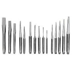 K Tool 15 Piece Punch And Chisel Set In Kit Bag