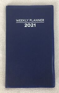 2021 Blue Weekly Pocket Planner Calendar Organizer Appointment Book 4 x6 5