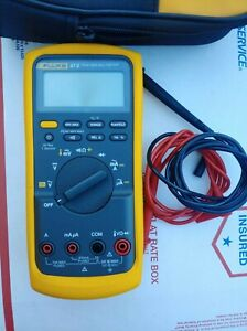 Fluke 87 V True Rms Multimeter W Leads Carrying Case excellent Condition