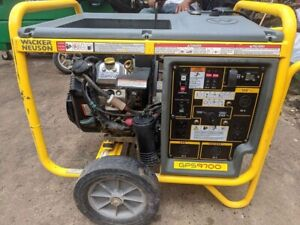 10 000 Watts 9 700 Watts Wacker Neuson Gps9700 Gen Set Gas Powered Generator