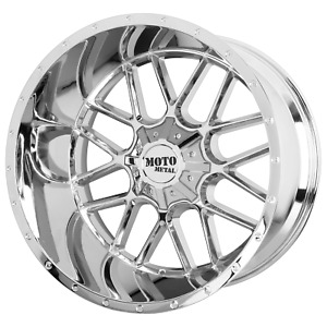 20 Inch 5x139 7 150 4 Wheels Rims Moto Metal Mo986 Siege 20x9 18mm Chrome