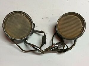 Early Pair Vintage Cowl Lamp Lights Dodge Car Old Truck Mopar Chrysler Plymouth