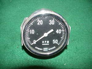 Vintage Stewart Warner Tach Tachometer Mechanical Drive Rat Rod Hot Scta Trog