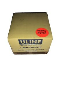 Uline Pallet Sticky Notes Yellow 1 Pk