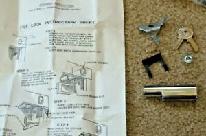 New Anderson Hickey File Cabinet Lock Kit With Keys Instructions