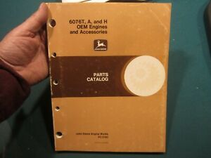 John Deere 6076t a And H Engine Parts Catalog