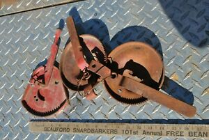 Vintage Group Ihc Mccormick Deering Farmall Tractor Throttle Levers Plates