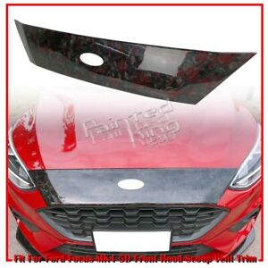 usa 18up Fit For Ford Focus Mk4 5d Front Hood Scoop Vent Trim Red Carbon