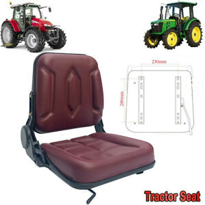 Lawn Mower Tractor Seat Garden Forklift Slidable Seat With Back Rest For Utv Atv