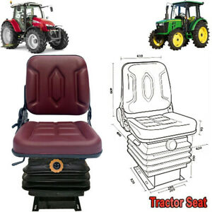 Garden Tractor Seat Forklift Seat Lawn Mower Seat With Back Rest Suspension Us