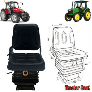 Forklift Seat Lawn Mower Tractor Seat Waterproof With Suspension For Excavator