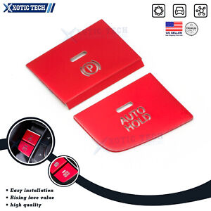 For Mazda 3 Axela 2019 2020 Gear Accessories P Gear Brake Hold Frame Trim Red 2x