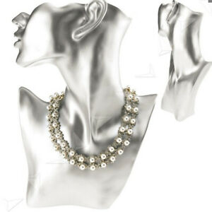 Soft Resin Female Mannequin Head Bust Stand Model Shop Jewelry Necklace Display