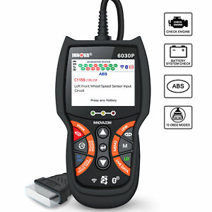 Innova 6030p Automative Abs Bms Reset Check Obdii Code Reader Diagnostic Scanner