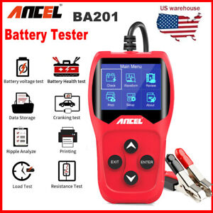 Automotive Car 12v 100 2000 Cca Battery Load Tester Starter Cranking System Tool