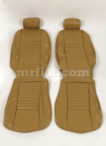 Fiat 124 Coupe Tan Seat Covers Set New