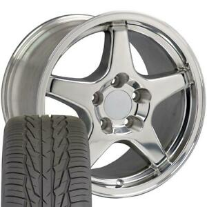 17 Wheel Tire Set Fit Corvette Zr1 Style Polished 17x9 5 17x11 Rims Toyo
