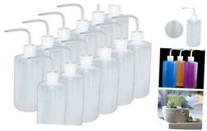 12 Pack 250ml Plastic Safety Wash Bottle Narrow Mouth Squeeze Bottle