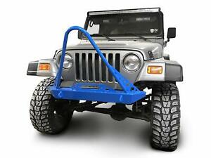 Steinjager Front Bumper With Stinger Wrangler Tj 1997 2006 Playboy Blue