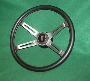 Original Olds Oldsmobile Buick 4 Bar Sport Steering Wheel 442 Cutlass Black