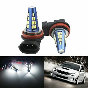 2x H8 H11 48 Smd 5w Canbus Led Drl Daytime Driving Fog Light Lamps Bulbs White