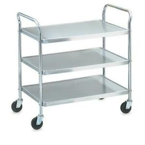 Vollrath 97106 33 In X 21 In 3 tier Stainless Steel Utility Cart
