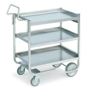 Vollrath 97211 20 In X 30 In 3 tier Stainless Steel Utility Cart