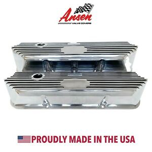 Ford Fe Tall Custom Valve Covers All Polished Die cast Aluminum Ansen Usa