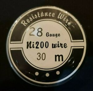 Ni200 50 Ft 28 Gauge Awg Pure Nickel 200 Non Resistance Wire 28g Cloud King