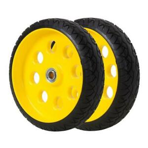 10 In X 2 5 In Flat free Replacement Wheels For Hand Trucks 2 pack